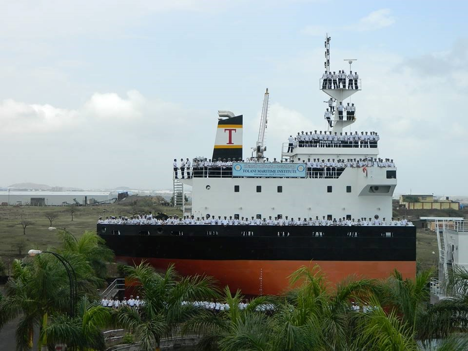 PIC: M/V Prabhu Vidya, the training vessel of the Tolani Maritime Institute.